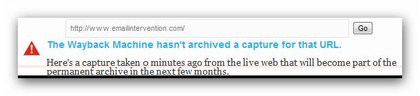 EmailIntervention on Wayback