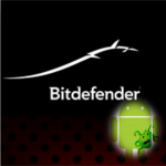 Bitdefender logo black with android
