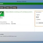 Utilizare Windows Defender – Windows 8